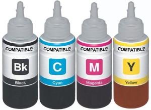 Skrill Epson Refill Ink Set for Epson Printers L100, L110, L130, L200, L210, L220, L300, L310, L350, L355, L360, L365, L455, L550, L555, L565, L1300 Multi Color Ink