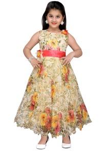 f23d2a9ac Adiva Girl s Maxi Full Length Party Dress Yellow Sleeveless Best ...