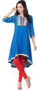 Rangriti Women's Solid A-line Kurta