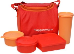 Tupperware Best 4 Containers Lunch Box (1000 ml) 3 Containers Lunch Box