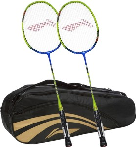 Li Ning XP Smash 810 2Pc + 1 Pc 2 in 1 Thermal Double Belt Bag Color Black Combo S2 Strung