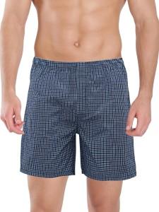 Kothari Checkered Men's Light Blue Boxer Shorts
