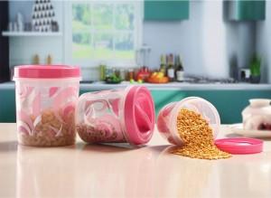 Princeware Twister  - 1350 ml, 840 ml, 490 ml Plastic Food Storage