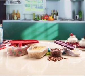 Princeware SF  - 1150 ml, 725 ml, 475 ml, 275 ml Plastic Food Storage