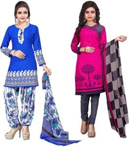 Giftsnfriends Crepe Printed Salwar Suit Dupatta Material