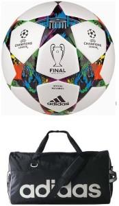 Retail World UEFA Champions League Multistar Football (Size-5) with Gym Duffle Bag Football Kit