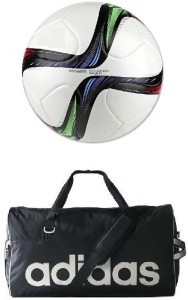 Retail World Conext15 Multicolor Football (Size-5) with Gym Duffle Bag Football Kit