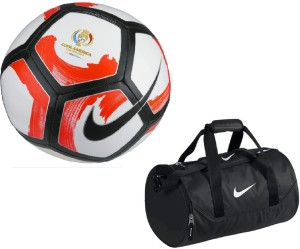 Retail World Pitchciento Cope America Centenario White/Red Football (Size-5) with Gym Duffle Bag Combo Football Kit