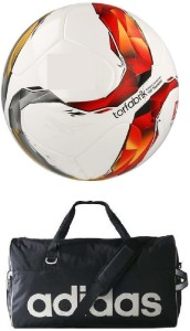 Retail World Torfabrik Football (Size-5) with Gym Duffle Bag Football Kit