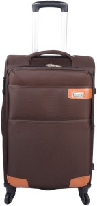 JOURNEY9 SIGMA 55_BROWN Expandable  Cabin Luggage - 20 inch