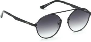 7a1e58a05f2ad IDEE S2242 C1 Medium 61mm Black Shaded Round Sunglasses Black Best ...