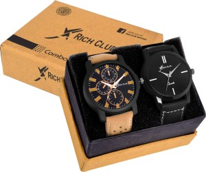 Rich Club Set Of Two Exclusive Analog Watch  - For Men