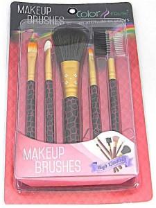 Color Fever Makeup Brush Set - Stylish Maroon