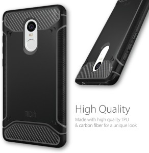 best website fa08c 7a9c9 Tudia Back Cover for Xiaomi Redmi Note 4Black, Rugged Armor
