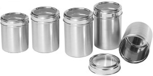 Dynore Stainless Steel Kitchen Storage Canisters With See Through Lid Set Of 5 Size 10 11 12 13 14 1000 Ml 1250 Ml 1500 Ml 1750 Ml 2000 Ml
