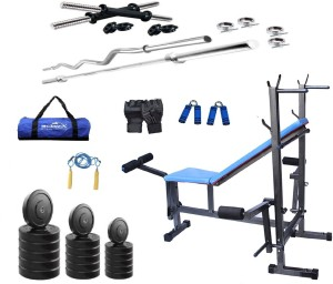 Star X 72 kg Home Gym Combo with 8 in 1 bench Gym