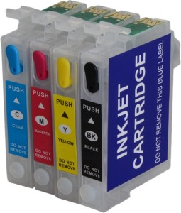 Dubaria Refillable Ink Cartridge Compatible For Epson TX121 Printer - Combo Value Pack Multi Color Ink