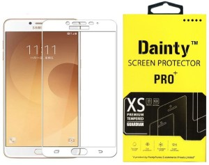 Dainty Tempered Glass Guard for Samsung Galaxy C7 Pro (5.7 inch, White) (Full Glass)
