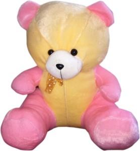 S S MART Pink & Yellow Teddy Bear  - 45 cm