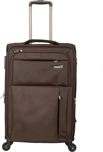 JOURNEY9 OMEGA 55_BROWN Expandable  Cabin Luggage - 20 inch
