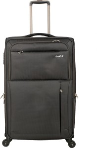 JOURNEY9 OMEGA 55_D.GREY Expandable  Cabin Luggage - 20 inch