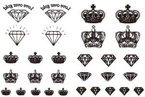 Savii Temporary Tattoo Crown Diamond Design Best Price In India
