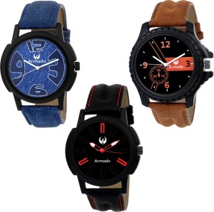 Armado AR-111561 Superior Combo Of 3 Analog Watch  - For Men