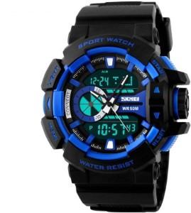 Skmei Marks-1117-Blue Sports Analog-Digital Watch  - For Men