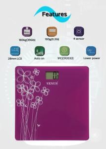 20ccdfad65 Venus Digital Glass Weighing Scale Purple Best Price in India ...
