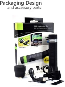 VibeX ™ Portable Bluetooth Multi Bike Speaker,4 in 1 Flash/Bluetooth Bicycle Speaker with Power Bank LED Front Light