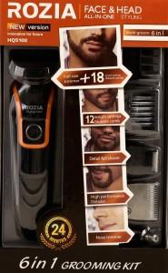 Rozia HQ5100 6 in 1 Multigroom Body Kit Cordless Trimmer
