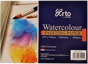 campap Arto 100% Cellulose( Hand size) B6 Watercolor Paper