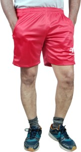 HPS Sports Solid Men & Women Red Sports Shorts