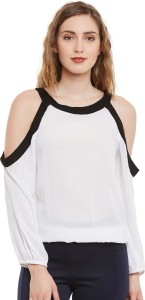 I Know Casual Full Sleeve Solid Women's White Top