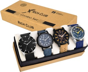Rich Club RC-4CMB Combo of 4 Trendy Analog Watch  - For Men