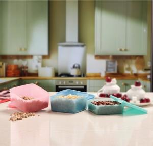 MasterCook Square  - 400 ml, 600 ml Plastic Food Storage