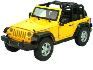 Jaibros Yellow Die Cast Jeep Remote Control Scale 1 24 Toy Car For