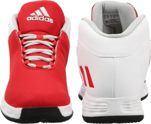 3d03d1476ac9 Adidas HOOPSTA Basketball Shoes White Best Price in India
