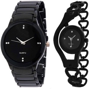 Gopal Retail studded letest collaction with beautiful attractive Analog Watch  - For Couple
