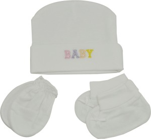 760f90eeae3 Joymart Baby Designer Caps Mittens Booties White Best Price in India ...