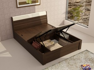 Spacewood Engineered Wood Queen Bed With Storage