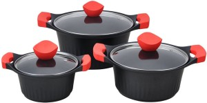 Wonderchef Cleopatra Die-Cast Casserole Set