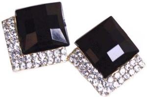 20710dd74e2995 Shining Diva Black Stone Stylish Fancy Party Wear Tops Alloy Stud Earring  Best Price in India