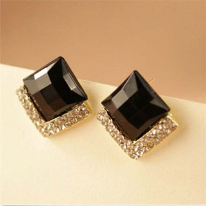 Shining Diva Black Stone Stylish Fancy Party Wear Tops Alloy Stud Earring Best Price In India