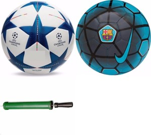 RSO High Quality PRIME 2 Footballs With Air Pump - Size: 5, Diameter: 22.5 cm(Pack of 3, Multicolor) Football Kit