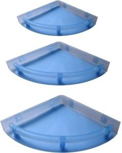 Blue Barrel Unbreakable Bathroom Corner Shelves Set of 3 Plastic Wall Shelf