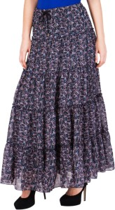 ND&R Printed Women's Layered Multicolor Skirt