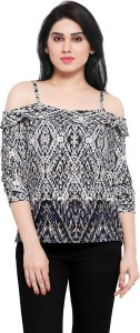 Serein Casual 3/4th Sleeve Floral Print Women's Multicolor Top