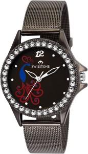 Swisstone VOGLR210-BLACK Analog Watch  - For Women
