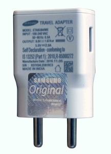 Samsung ETA0U84IWE 5V 2.0A or 9V 1.67A OEM Fast Charge Made in India Mobile Charger